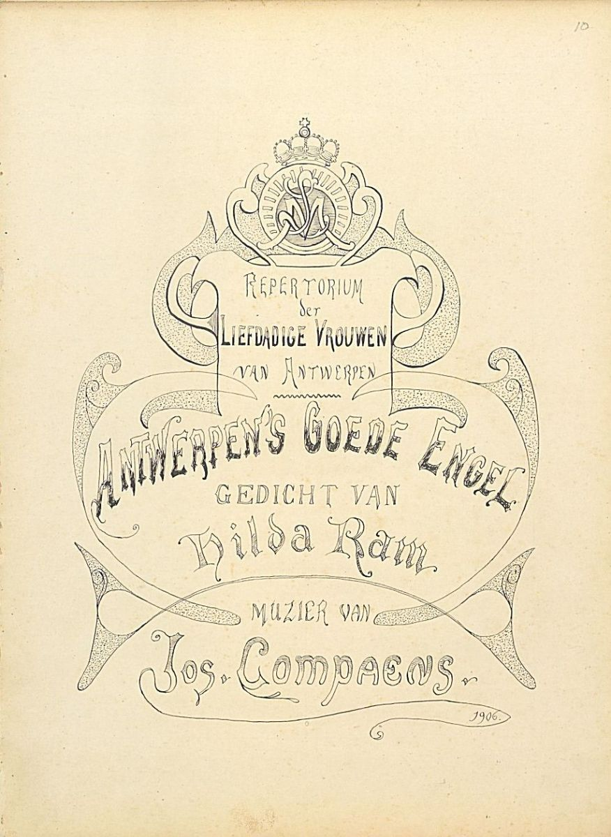 Compaens, Antwerpen's goede engel - Hand-drawn title pages from BV-10-5142