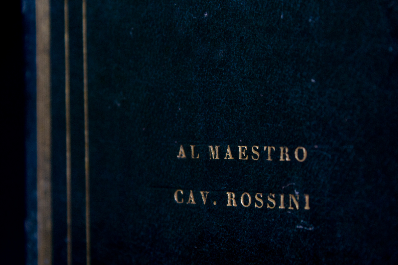 'Stabat mater' by Gaetano Bonetti, with a dedication to Rossini on the cover. FEM-810.