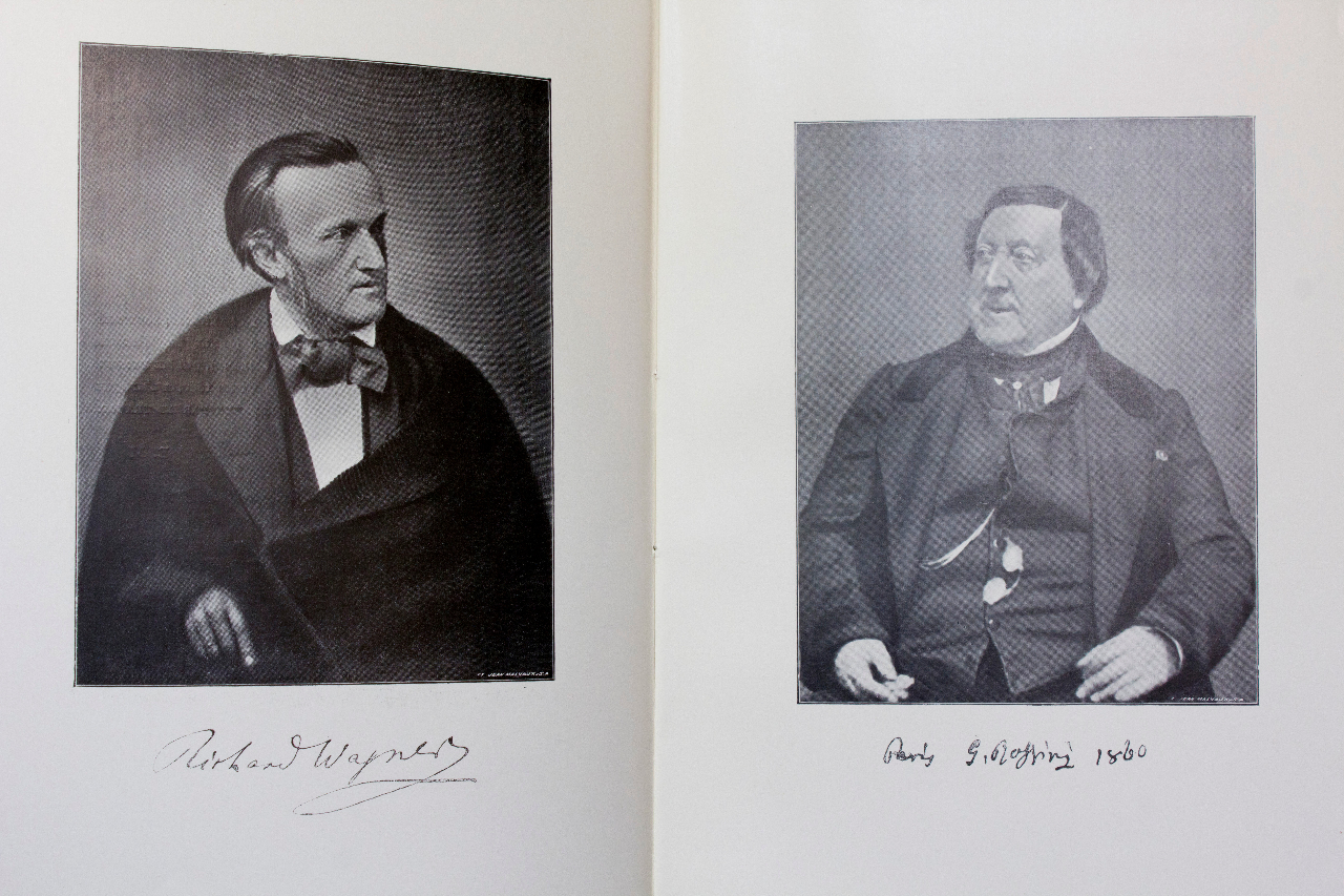 Wagner and Rossini, the two portraits from Michotte's 'Souvenirs personnels' from 1906. FEM-766.